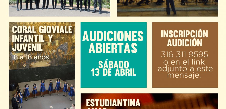 Audiciones Grupos de Proyección AMAF